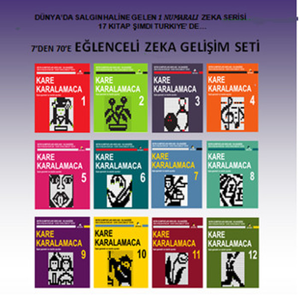 Square Karalamaca Series (12 book) Collective Equinox (TURKISH)