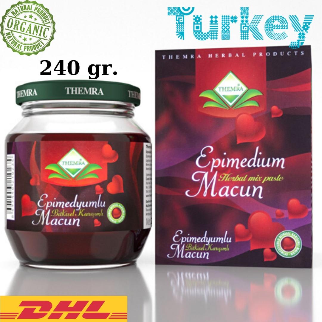Themra Epimedium Turkish Honey Mix Macun Horny Goat Weed Ginseng Herbal Aphrodisiac– Turkish Paste, 240gr