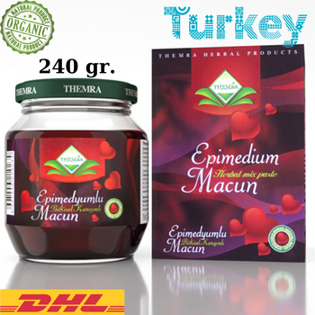 Themra Epimedium Turkish Honey Mix Macun Horny Goat Weed Ginseng Herbal Aphrodisiac– Turkish Paste, 240gr