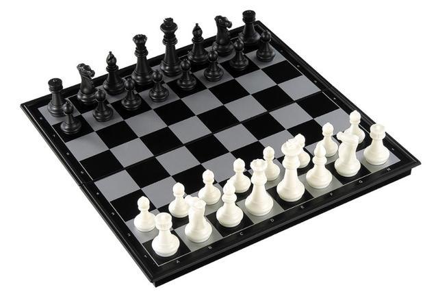 Jeu d'échecs Backgammon et jeu de dames pliable. Jeu de société 3-en-1 Portable 4