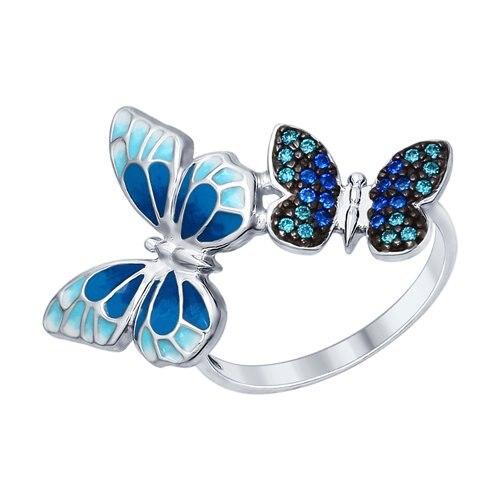 Silver Ring «butterflies» SOKOLOV