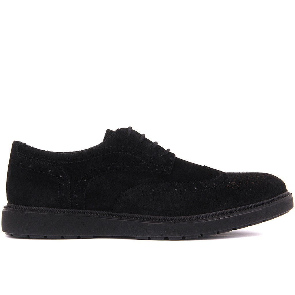 Sail Lakers-Black Suede Men Casual Shoes