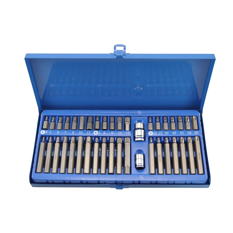 Set 40pc Drill Bits Torx For Screws Hex Bit 1/2 3/8 Car Tools