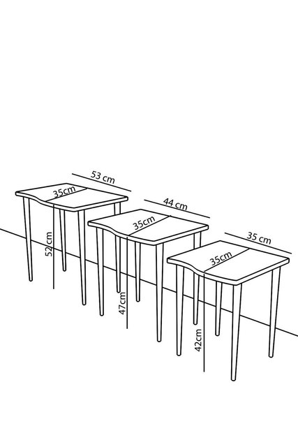 Triple Nesting Table Tea Table 4