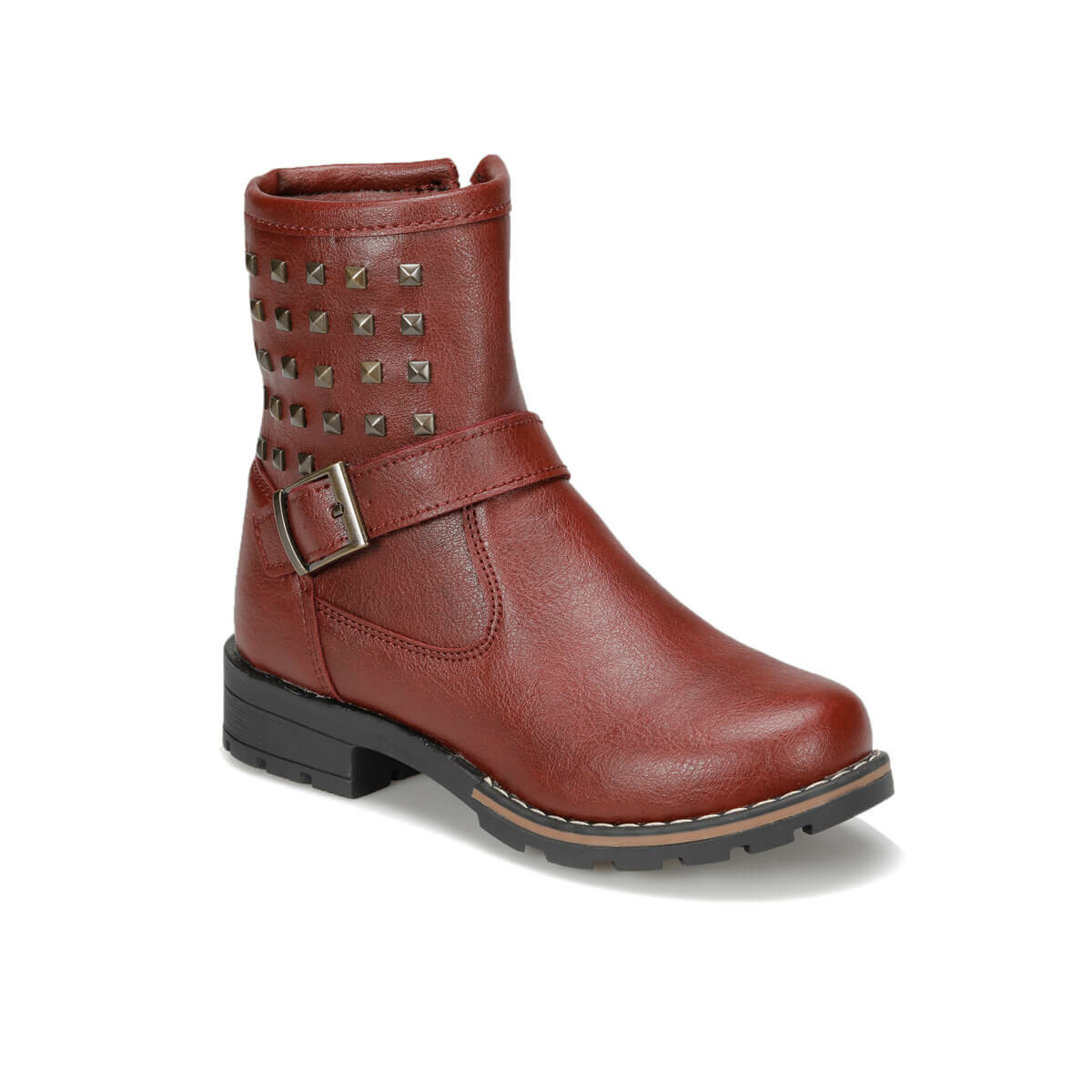 FLO 92. NINA-4. F Burgundy Female Child Boots PINKSTEP