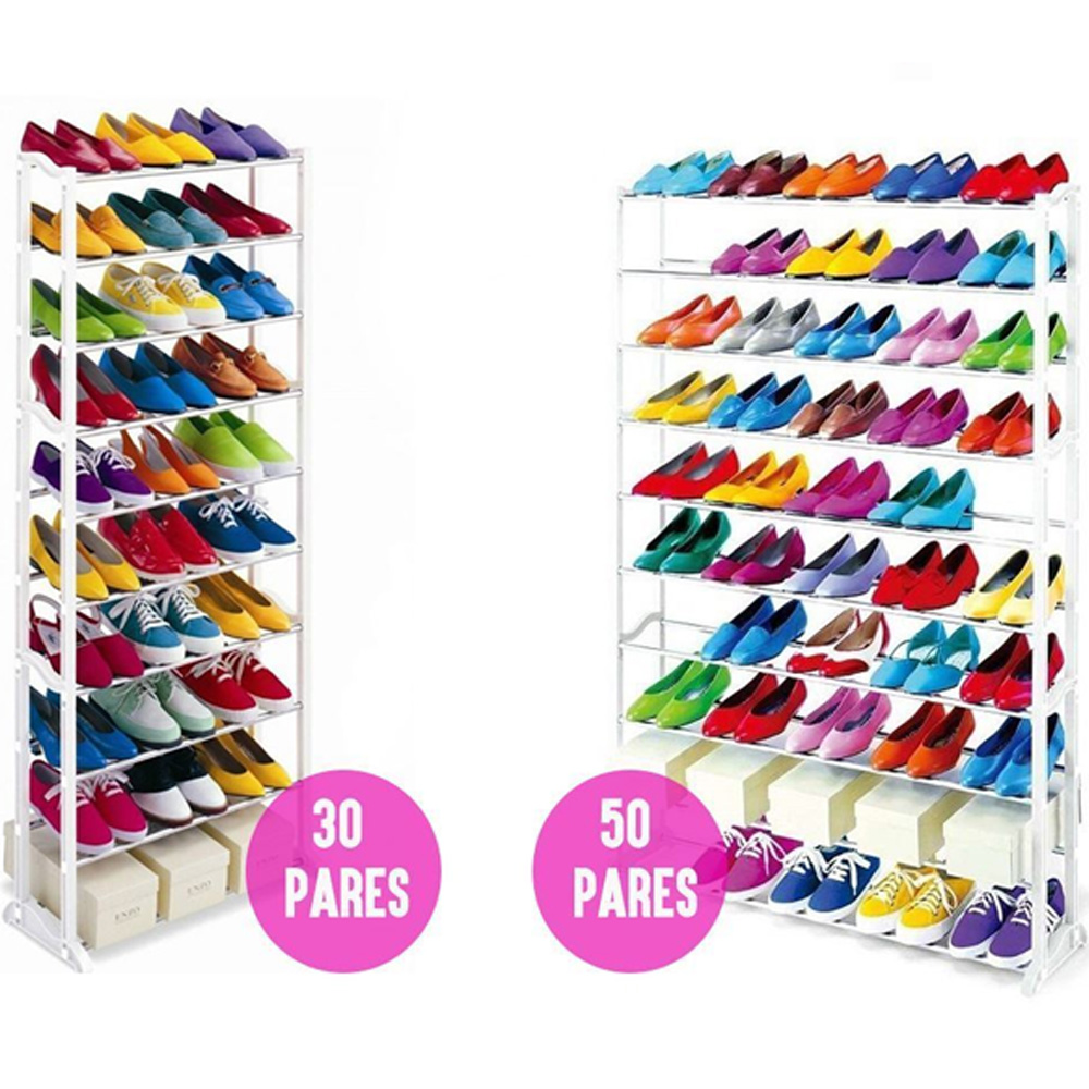 Zapatero 30 คู่หรือ 50 คู่ SO รองเท้า,รองเท้าผ้าใบ,รองเท้า, รองเท้าและกล่องโครงสร้างจาก 10 ความสูง spaciousness