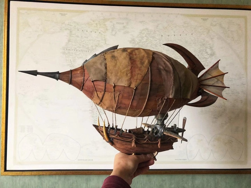 "ZHL Goblin Zeppelin 600mm 23.6"" World Of  Wooden Model Ship Kit"