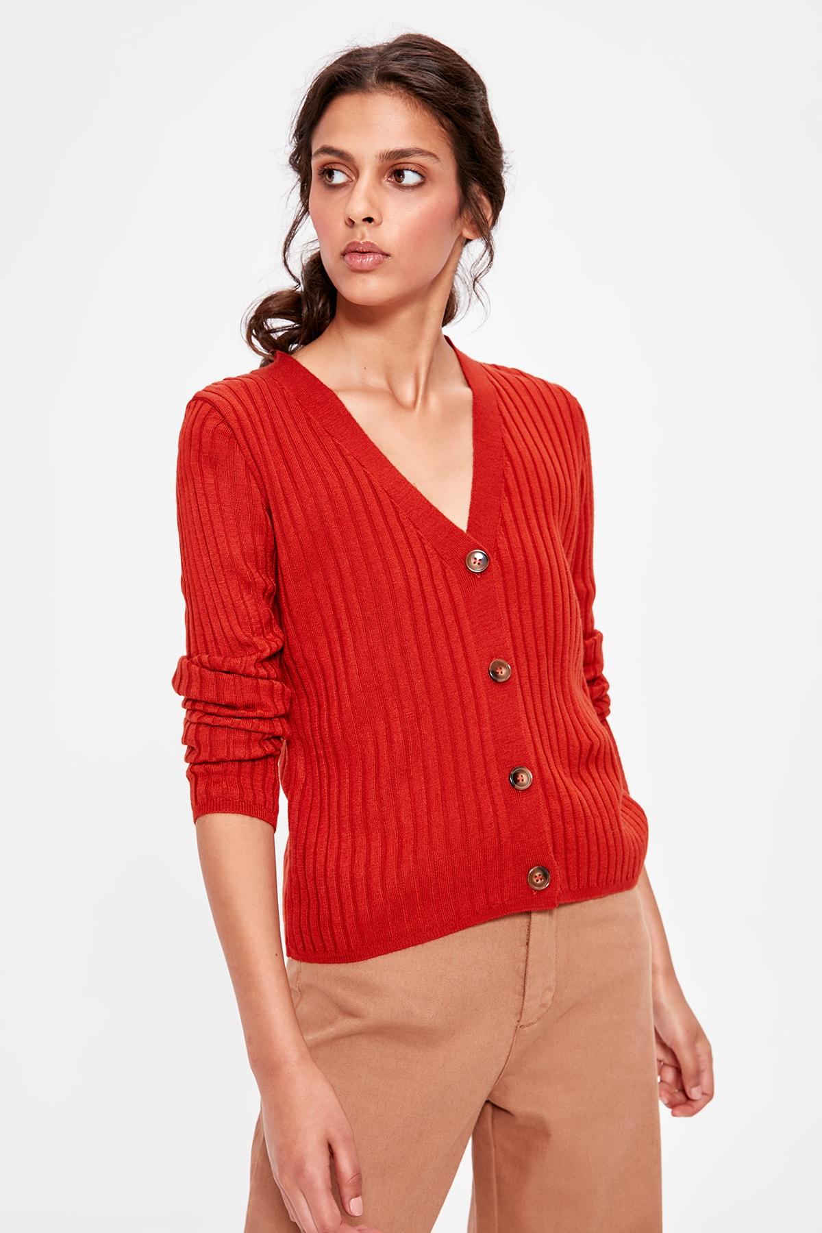 Trendyol Tile Sweater Cardigan TWOAW20HI0058