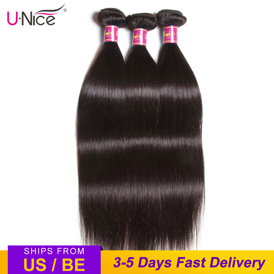 UNICE HAIR 30 Inch Brazilian Bone Straight Hair Bundles 100% Human Hair Weave Bundles Straight Virgin Hair Extension 1/3/4 PCS