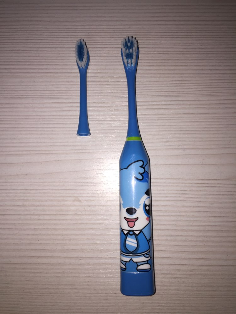 Electric Toothbrush Cartoon Pattern Ultrasonic Waterproof Tooth Brush Double-sided Teeth Brush For Kids with 2pcs Head reviews №2 147054
