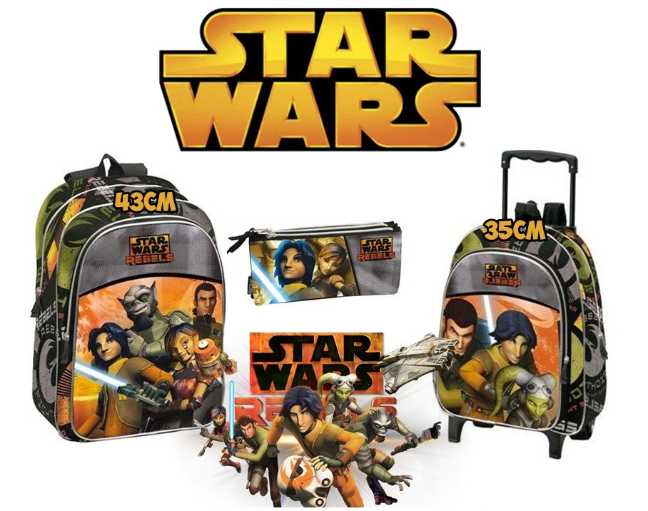 Batch Star Wars Backpack, Trolley And Pencil Pouch Threefold