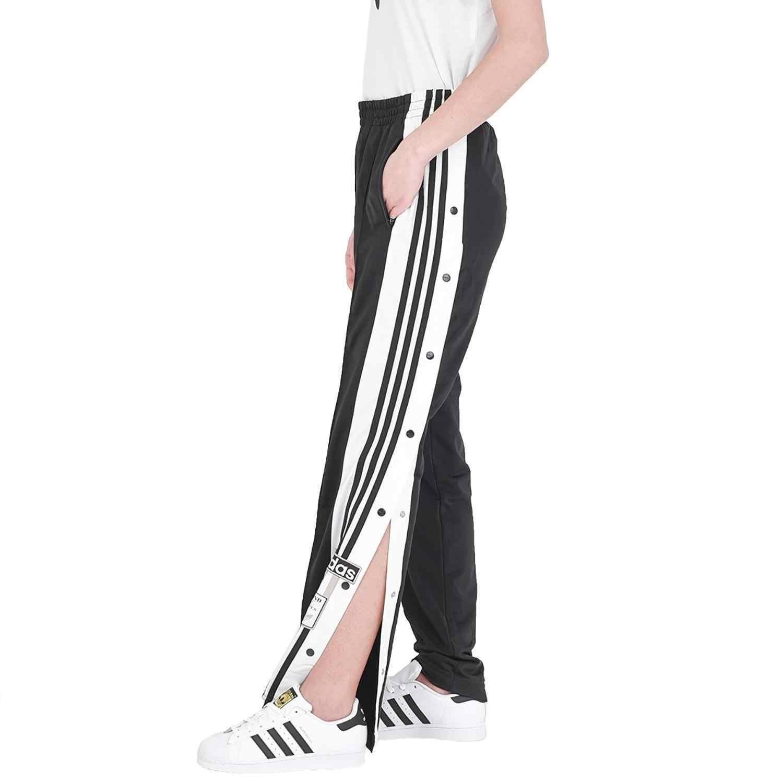 Pantalo'n Adibreak Pant Negro Botones Mujer CV8276