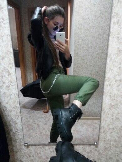 High Waist Pants Camouflage Loose Joggers Women Army Harem Camo Pants Streetwear Punk Black Cargo Pants Women Capris Trousers photo review