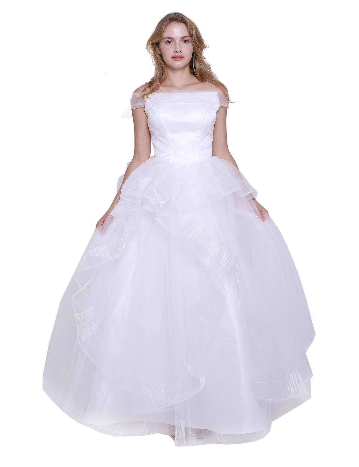 NEW 2020 St.Des Ivory A-line Russian Boat Neck Dream Floor-length Designer Elegant Beauty Queen Wedding Dress Wedding Gown