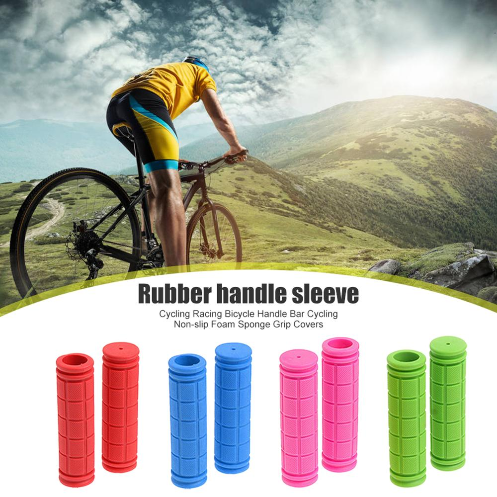 Bike Mountain Bicycle Scooter Silicone Anti-slip Handle Bar Ends Hand Grips