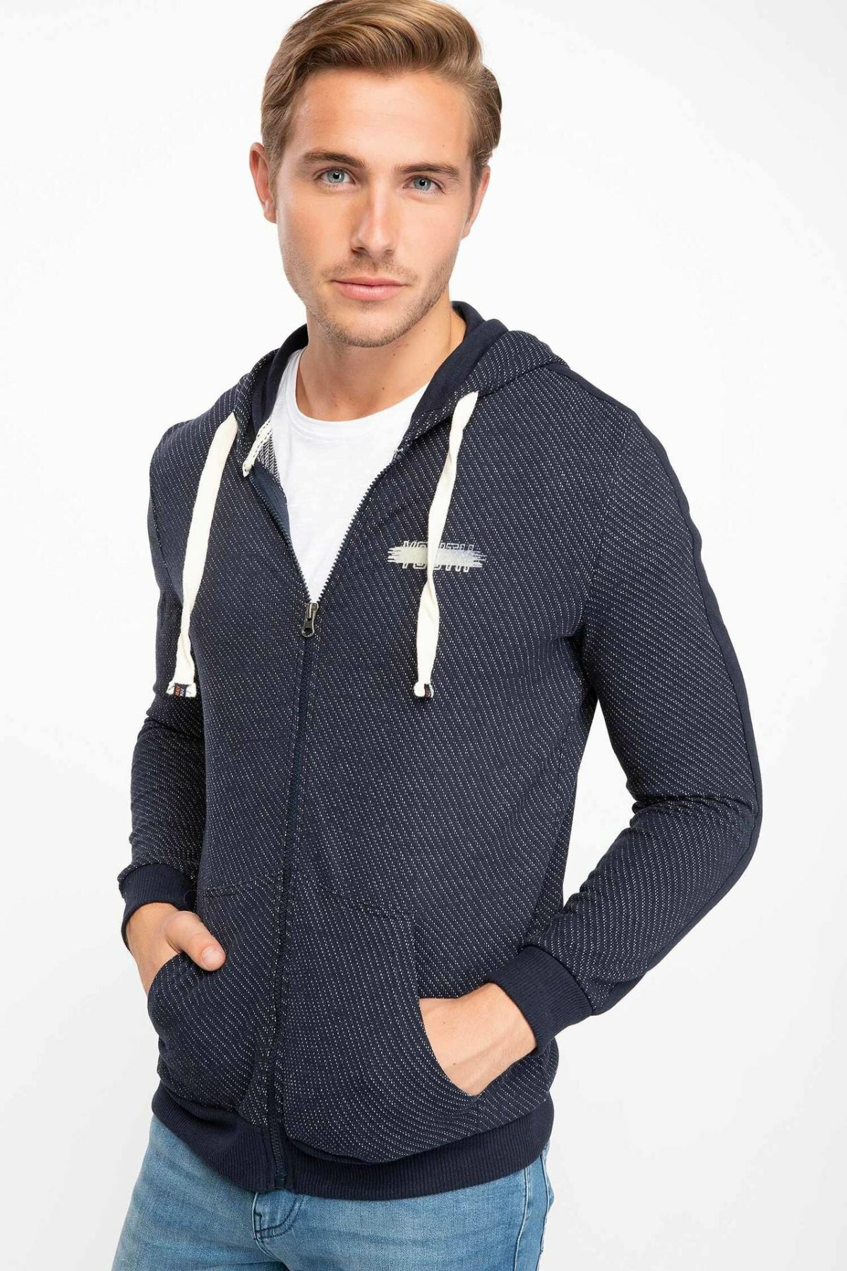 DeFacto Man Autumn Casual Long Sleeve Sportscoats Men Hooded Cardigan / Bolero Tops For Spring-J0577AZ18AU