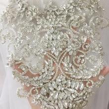 Corsage de mariée perlé en cristal pur fait à la main, appliques pour ceinture de mariée, accessoires de Haute Couture