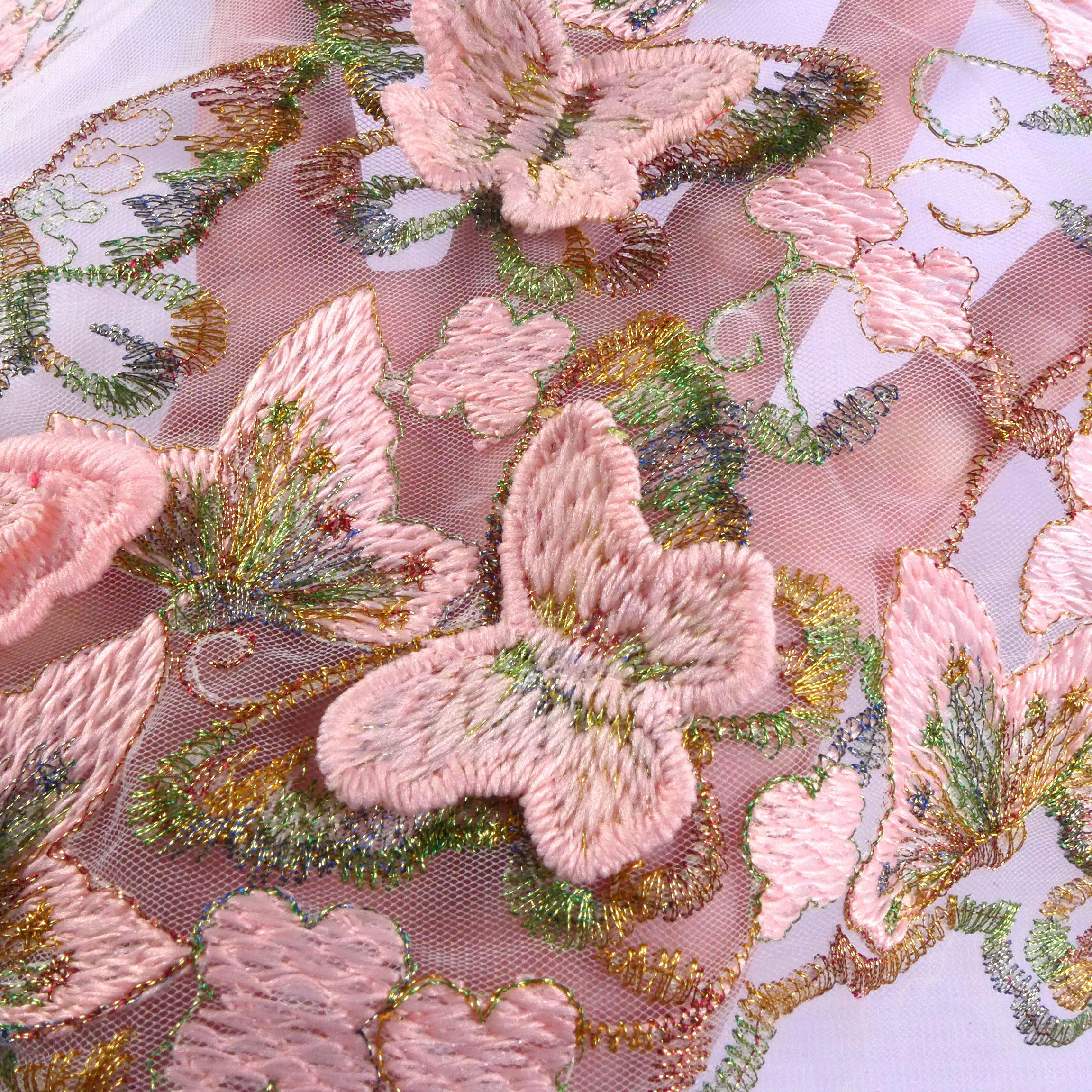 3D Blumen Perlen Strass Spitze Applikation Stoffe Kleid Kostüm Material DIY