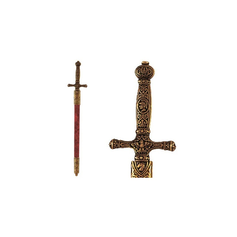 Letter Opener Napoleon's Sword With Scabbard (29cm)