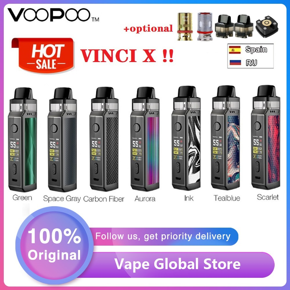 Original 70W VOOPOO VINCI X Pod Kit W/ Dual-coil System Powered By Single 18650 Battery No Battery Vape Kit VS Vinci Kit/Drag 2