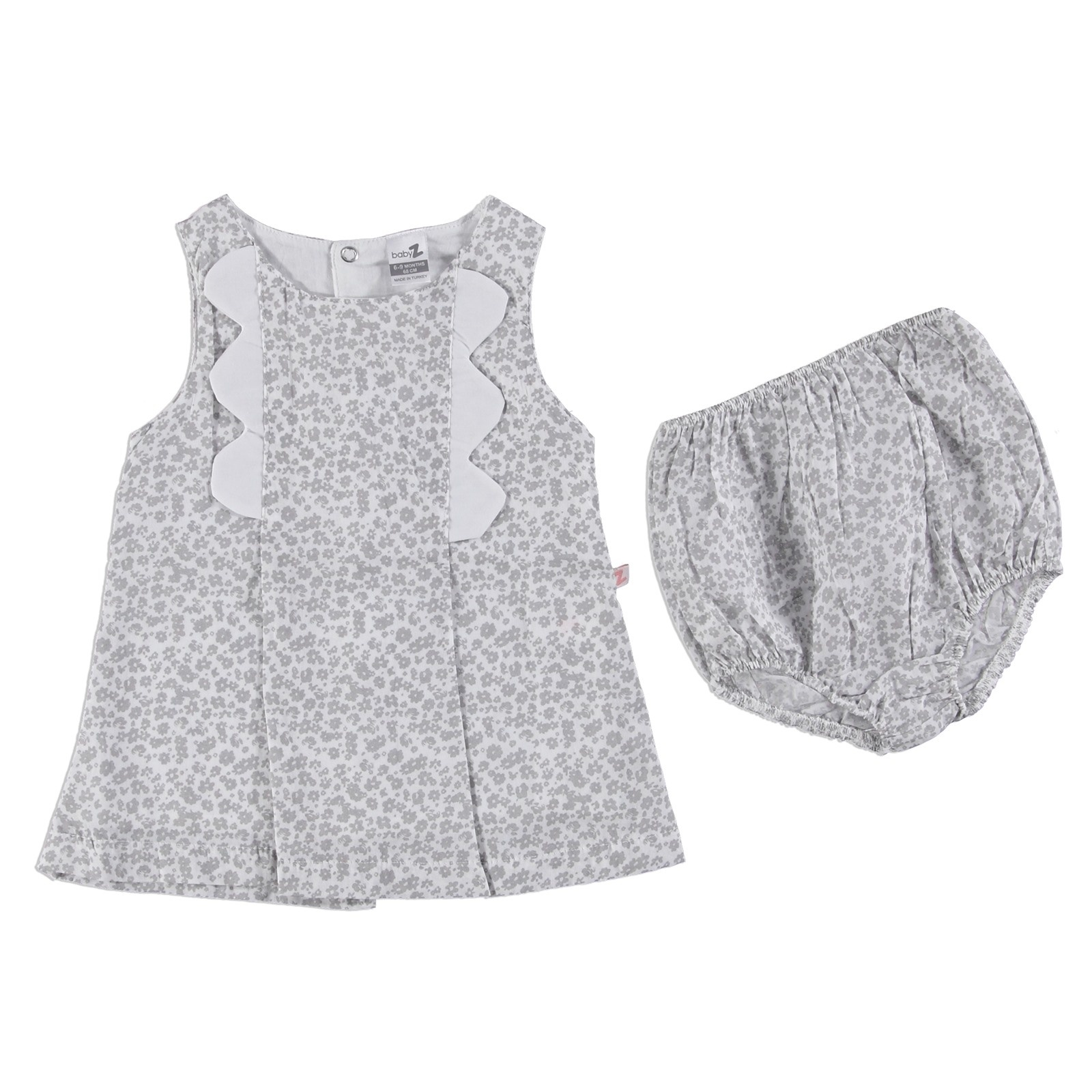 Ebebek BabyZ Spring Flowers Baby Girl Dress Panty Set