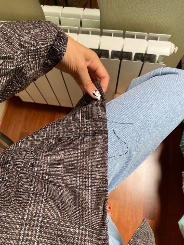 CBAFU autumn spring jacket women suit coats plaid outwear casual turn down collar office wear work runway jackets blazer N785 reviews №3 88676