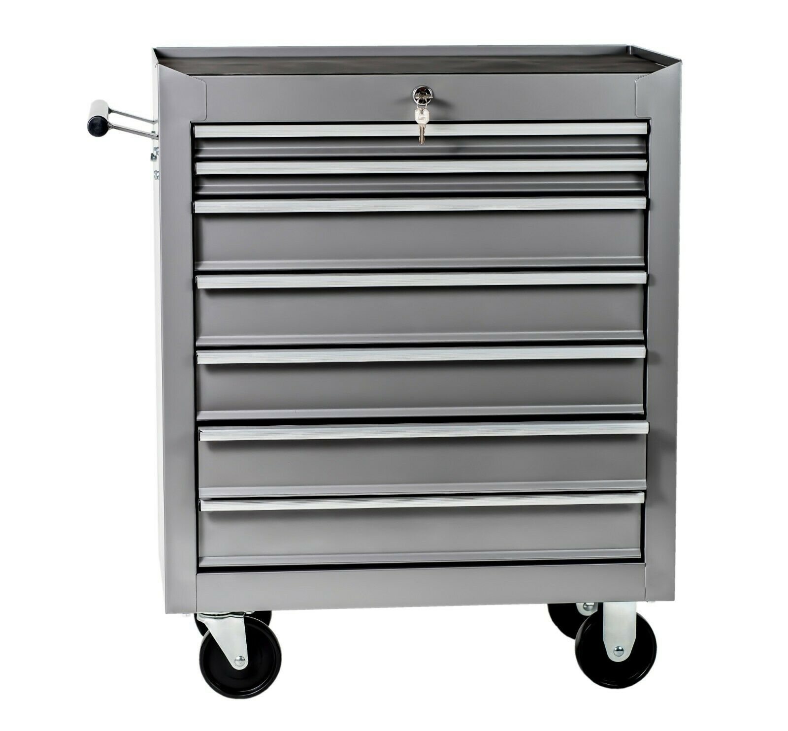 Tool cart workshop mobile mechanical garage with wheels 7 drawers guarantee-2