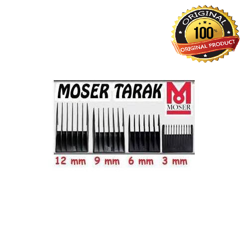 Moser 1400 4pcs 3mm-6mm-9mm-12mm Hair Trimmer  Shaving Comb Set Attachment Size Barber Replacement Tools Set Kit Fast Shipping