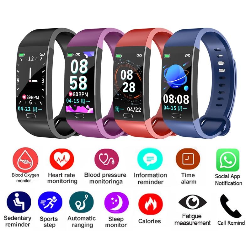 U46a6ff8430b3423dac3f541726601ab0X Smart Bracelet Band Measuring Pressure Clock Fitness Bracelet Heart Rate Activity Tracker bracelet smart Wristband Waterproof