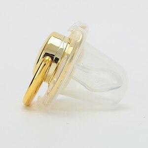 Image 2 - MIYOCAR شخصية أي اسم يمكن أن تجعل الذهب بلينغ مصاصة و مصاصة كليب BPA الحرة دمية بلينغ تصميم فريد P8