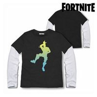 Koszulka dziecięca z długim rękawem Fortnite 75065 czarna na