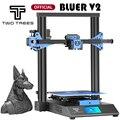 За рубежом склад Twotrees 3D-принтеры синее V2 I3 принтер печати маски 3D Diy Kit 3,5-дюймовый Цвет сенсорный Экран TMC2225