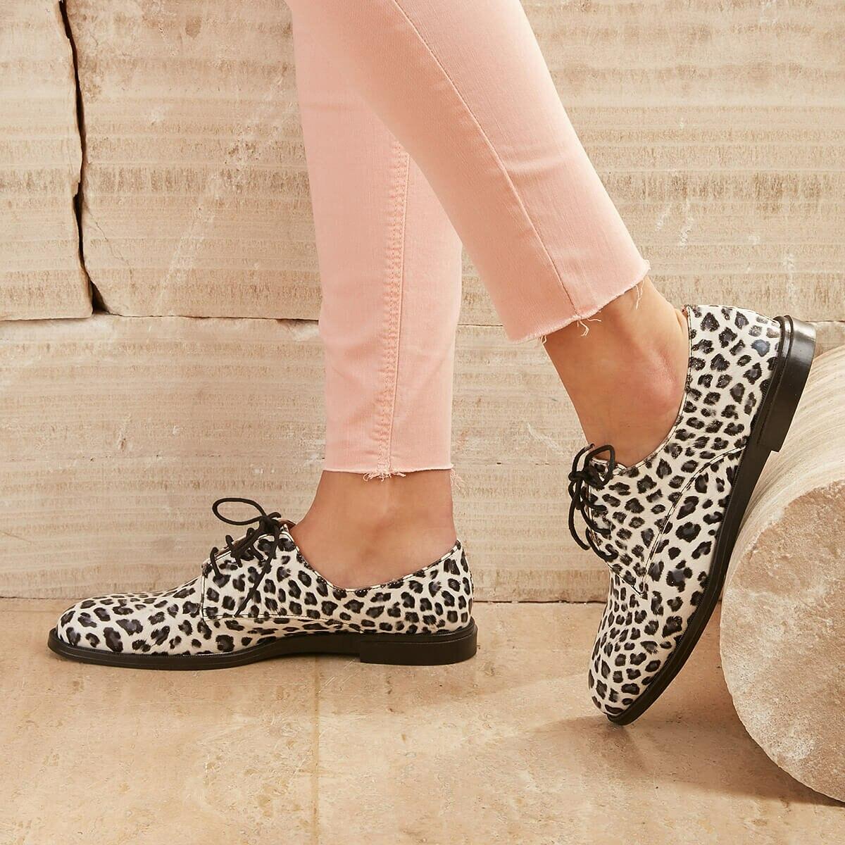 FLO DENNIS01Z SKIN Leopard Women Oxford Shoes BUTIGO