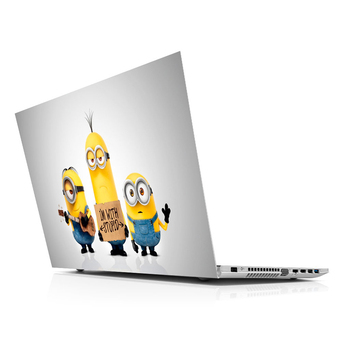 Sticker Master Minions Laptop 3 Universal Sticker Laptop Vinyl Sticker Skin Cover For 10 12 13 14 15.4 15.6 16 17 19 Inc Notebook decal for Macbook,asus,Acer,Hp,Lenovo,Huawei,Dell,Msi,Apple,Toshiba,Compaq pag unique decorative sticker for apple macbook laptop black