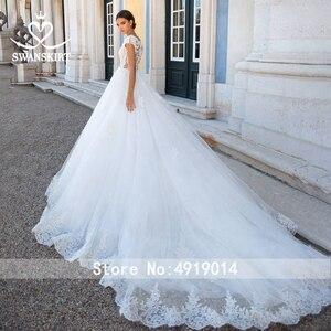 Image 2 - ĐẦM REN Vintage Váy Cưới Công Chúa 2020 Swanskirt Appliques Chữ A ĐÍNH HẠT Triều Đình Đoàn Tàu Cô Dâu Bầu Ảo Ảnh Áo Dây De Mariee I181