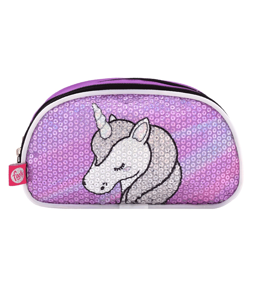 FOOTY Unicorn Case Lilac Double With LED Light AND Sequins