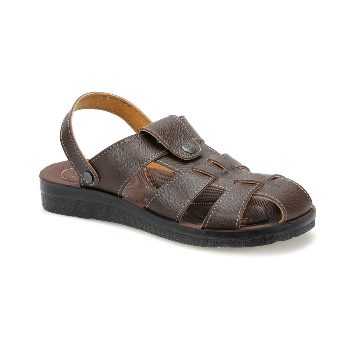 FLO PLK-13 Brown Mens Slippers Flexall