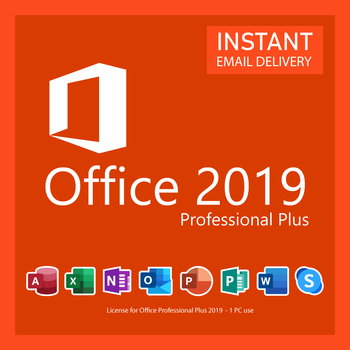 Microsoft Office 2019 Professional Plus - 64/32 Bit Digital Key Delivery
