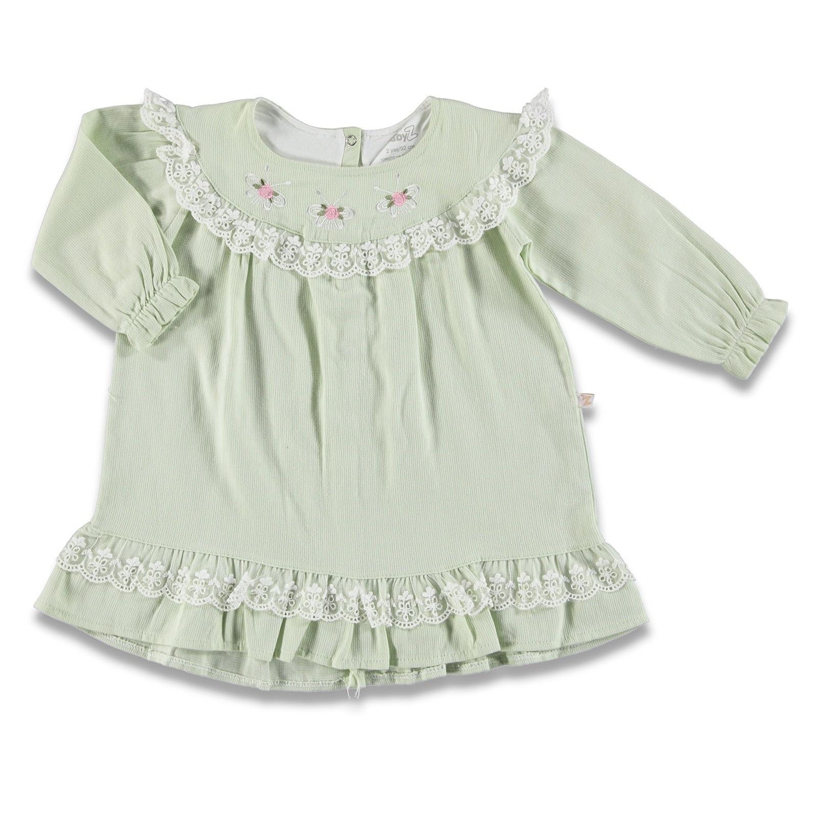 Ebebek BabyZ Baby Girl Lacy Detail Dress