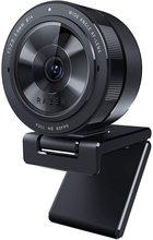 Kiyo Pro Streaming Webcam 1080p 60 FPS, anillo de luz con brillo ajustable, micrófono incorporado, enfoque automático avanzado