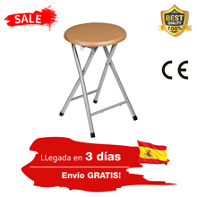 Folding stool 1/2/4/6uds finished aluminum, Brown, 30x30x45 cm very light and easy to carry non-slip