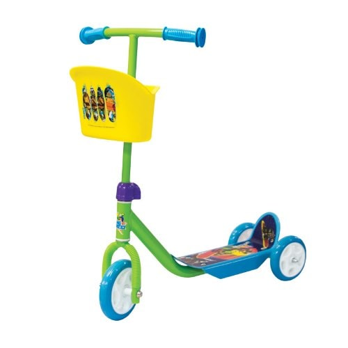 Three Wheel Scooter With Tmnt Basket, Crease-Resistance