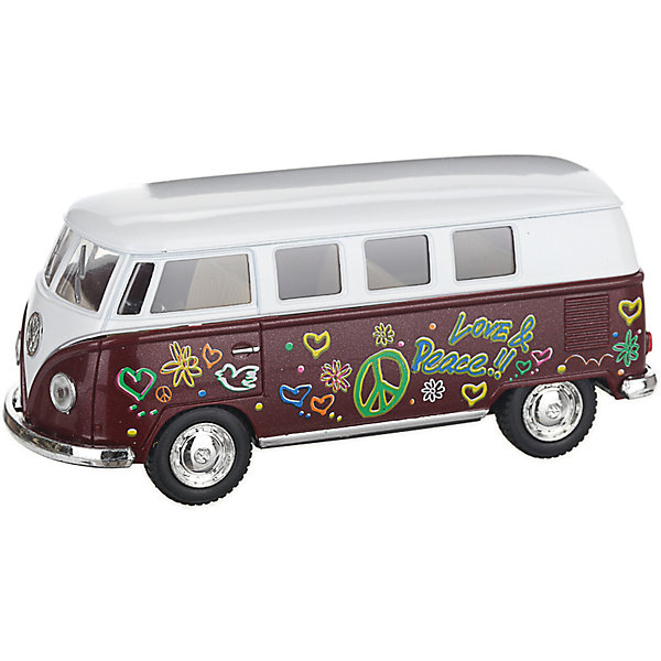 Metal Bus Serinity Toys Volkswagen Classical Colorized, Burgundy