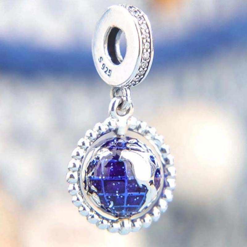 מכירה לוהטת 925 סטרלינג כסף נסיעות סדרת קסמי חרוזים Fit מקורי פאן קסם צמידי נשים Diy תכשיטי ביצוע מתנות