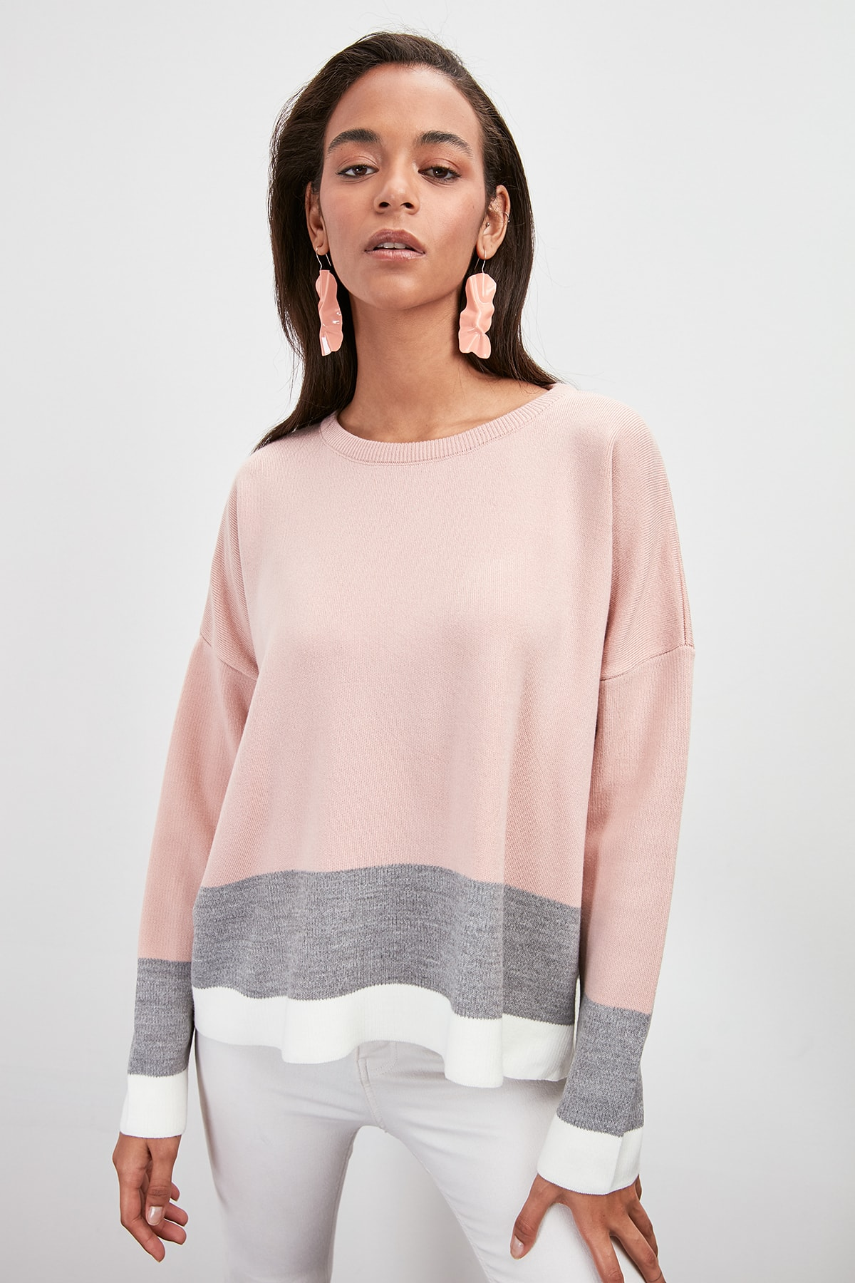 Trendyol With Color Block Sweater Pullover TWOAW20KZ0673
