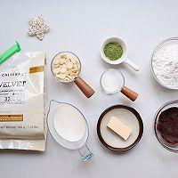 抹茶红豆巧克力麻薯的做法图解1