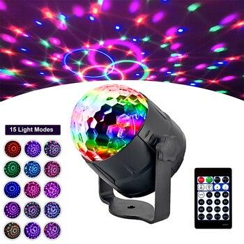 7/15 Colors USB LED Disco Stage Light Portable Family Party Magic Ball Bar Club Effect Lamp US EU Plug lighting new