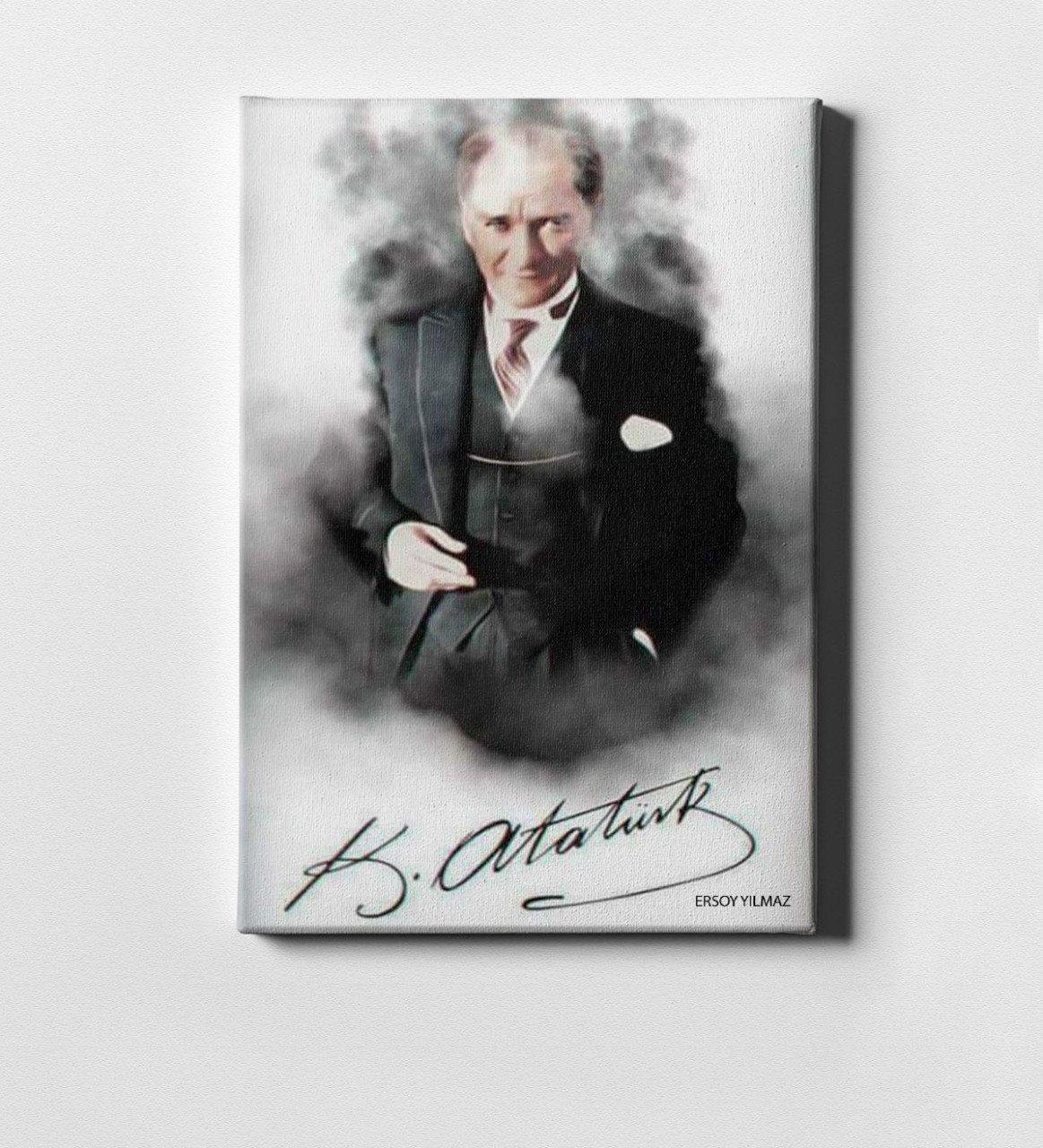 Personalized Ataturk Canvas Print (50x70 Cm.) 5