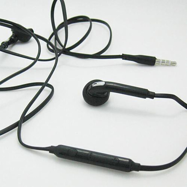 3.5mm Black Wired Headphones In-ear Headphones With Microphone For Huawei Xiaomi S6 Mobile Phone Earphone Earbuds