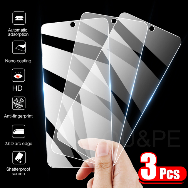 3Pcs Tempered Glass For Samsung Galaxy A50 A51 A52 A70 A71 A72 A10 A40 A60 Screen Protector For Samsung A20E A30S A31 M31 Glass 1